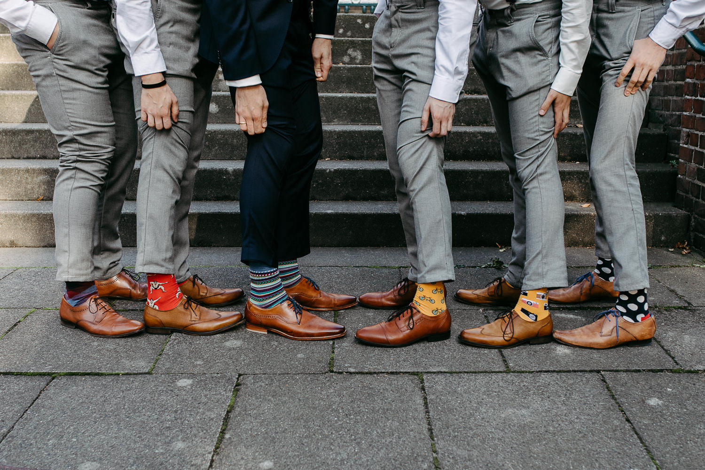 Best Man Bräutigam Hochzeit Hamburg Adams Bow Socken