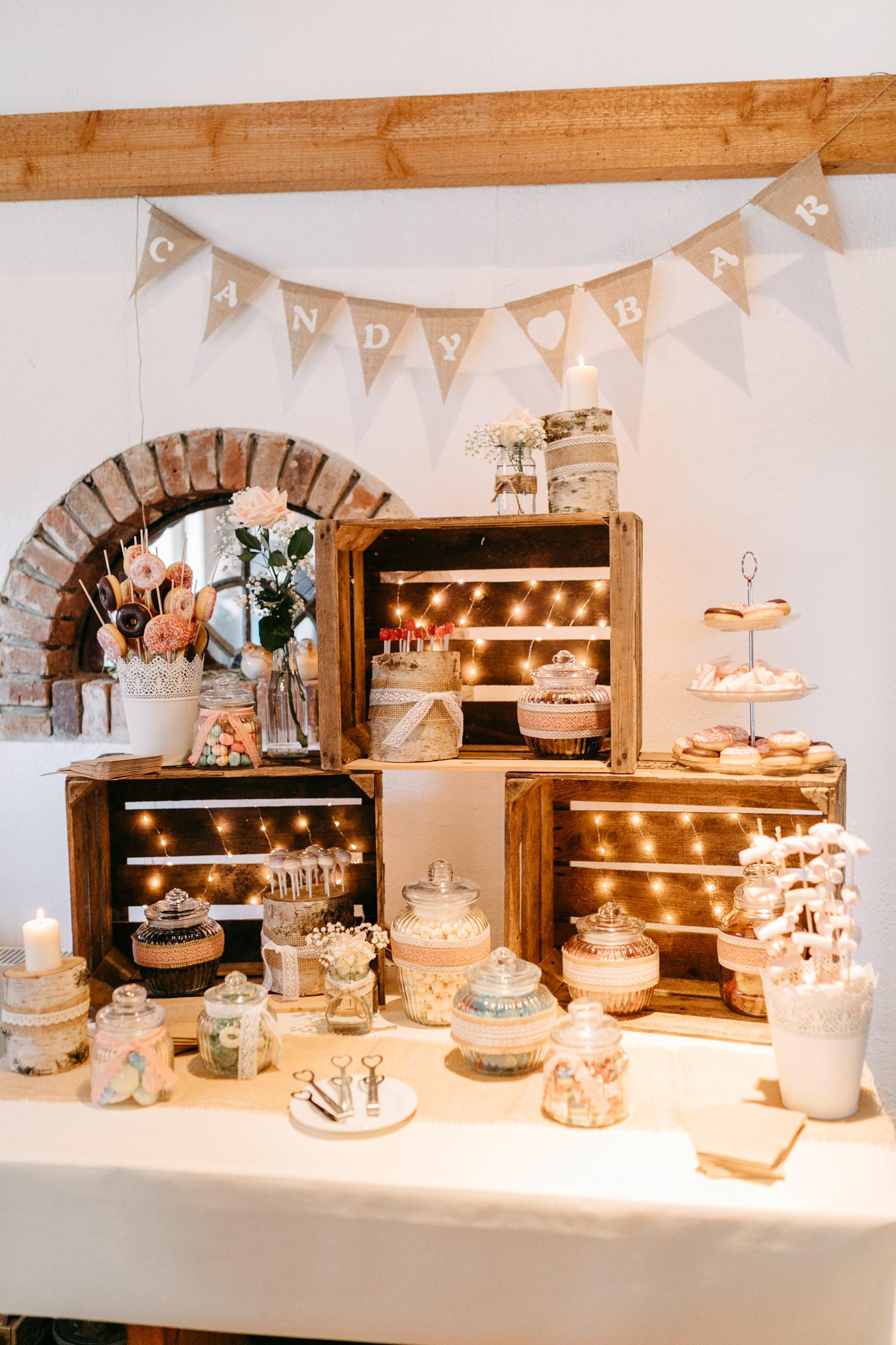 Candy Bar Hof Siats Hochzeit